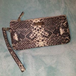 EXPANDABLE DKNY Snakeskin Wrist Wallet